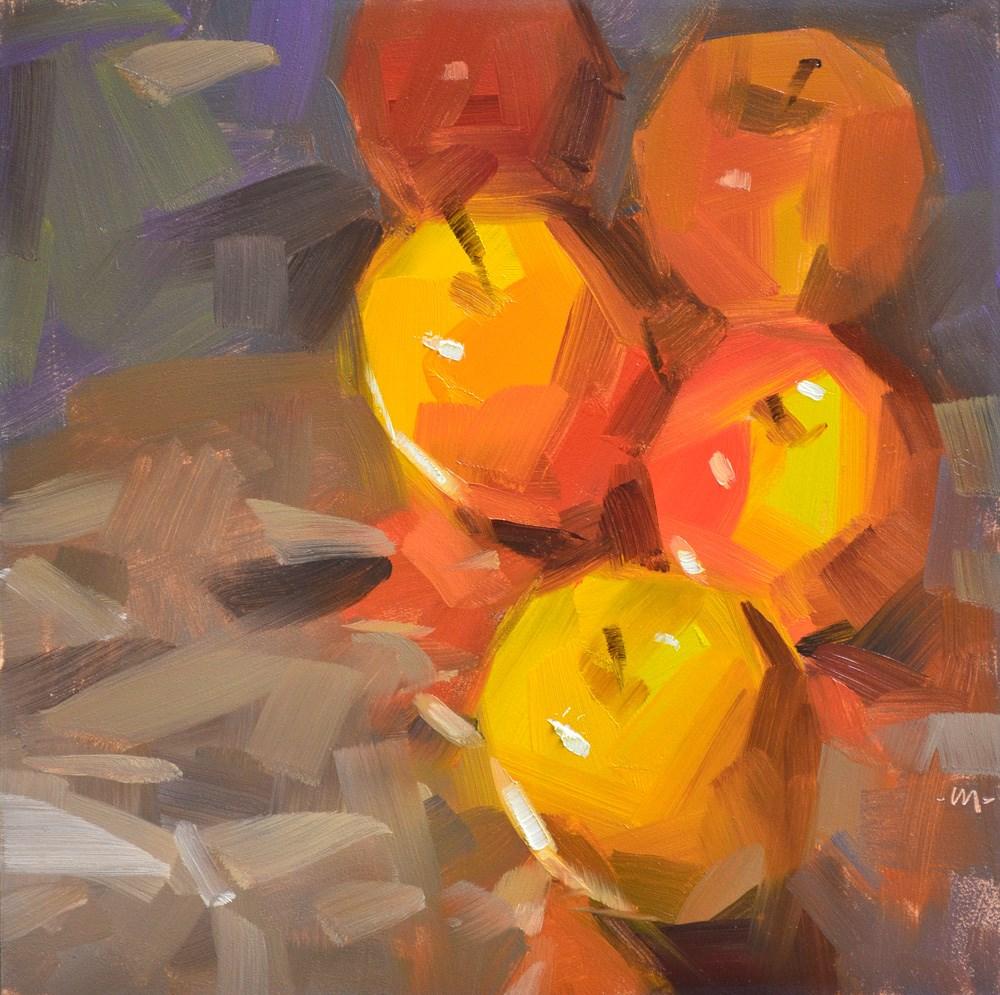 """""""Apple Trail"""" original fine art by Carol Marine"""