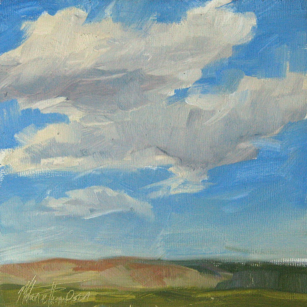 """Windy Day Clouds"" original fine art by Melanie Thompson"