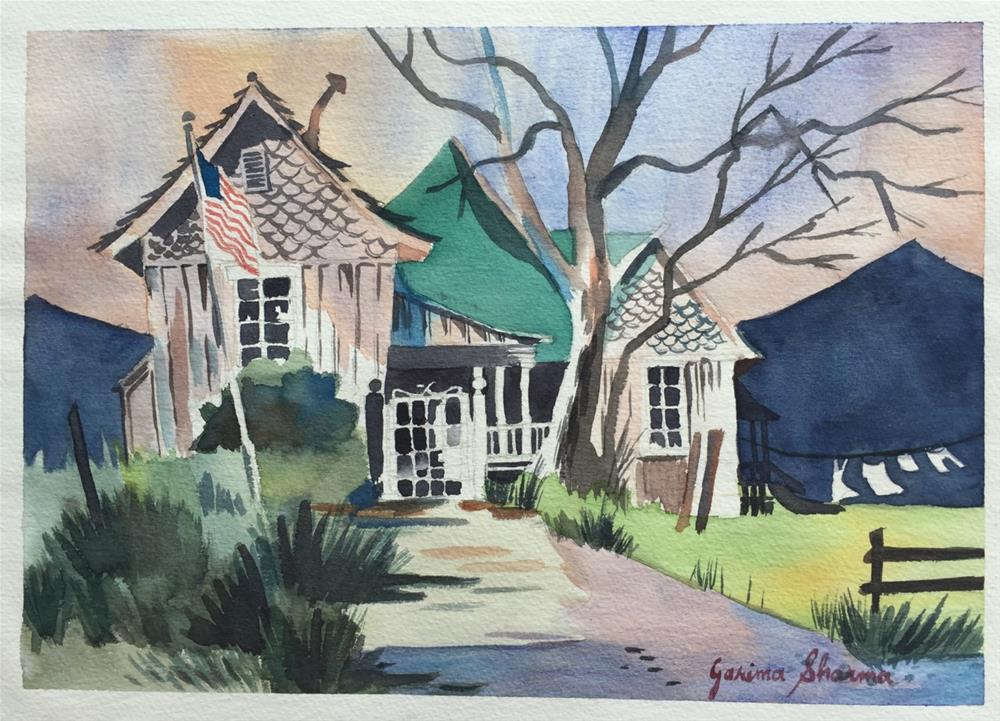 """Boo Radley's House"" original fine art by Garima Heath"