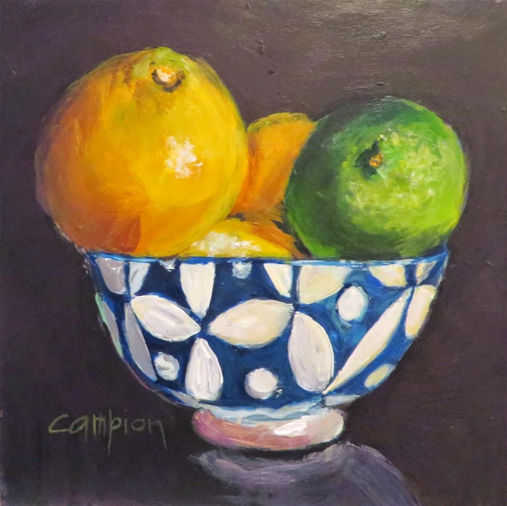 """562. Citrus in the Spotlight"" original fine art by Diane Campion"