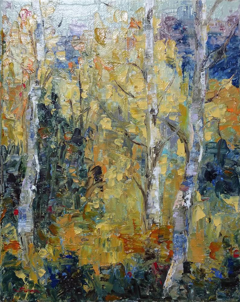 """Cheeful Birch Tree"" original fine art by Sun Sohovich"