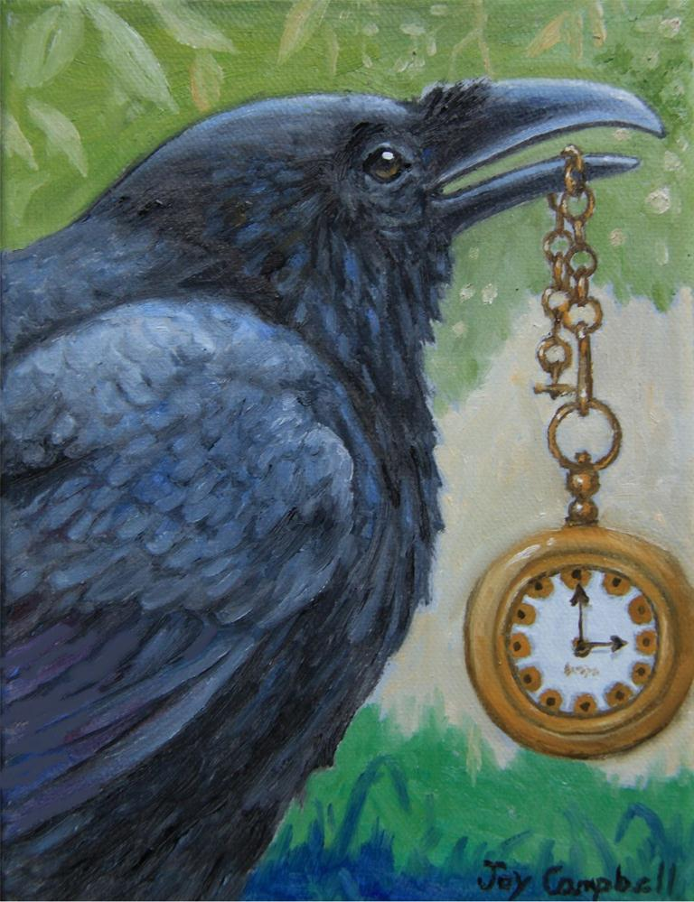 """On Raven Time"" original fine art by Joy Campbell"