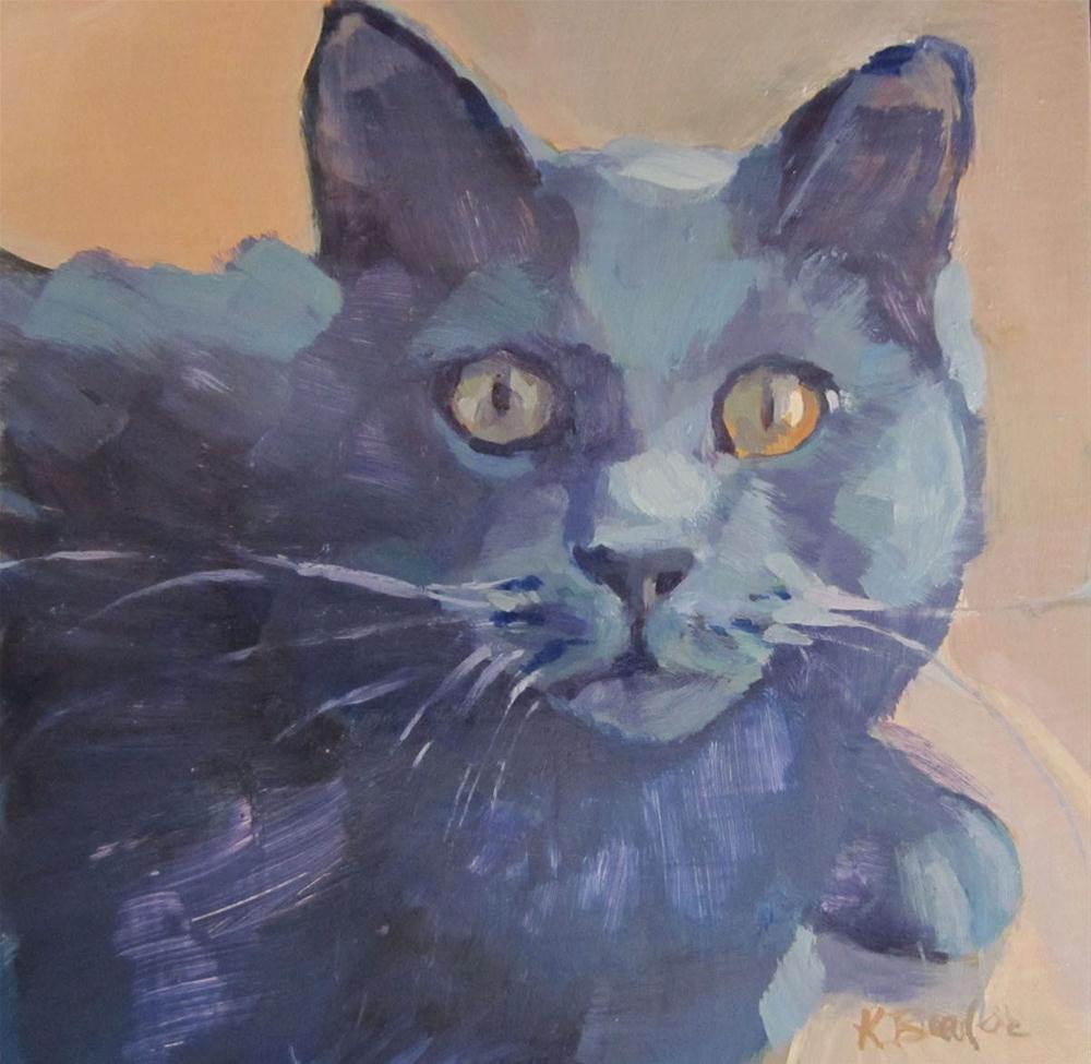 """Blue"" original fine art by Kaethe Bealer"