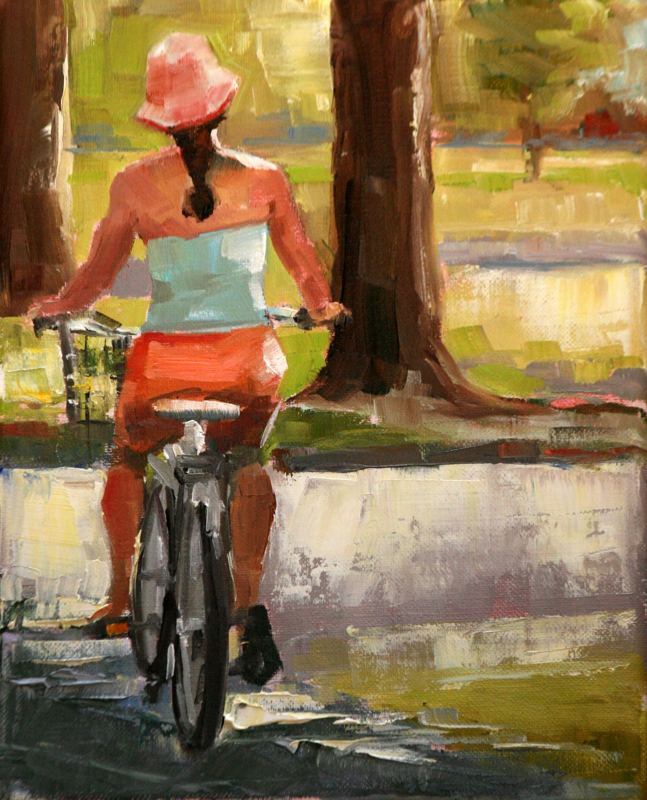 """riding into the light"" original fine art by Carol Carmichael"
