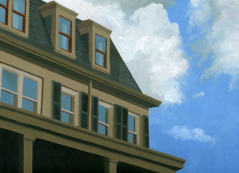 """The Chestnut Hill Hotel"" original fine art by Nancy Herman"