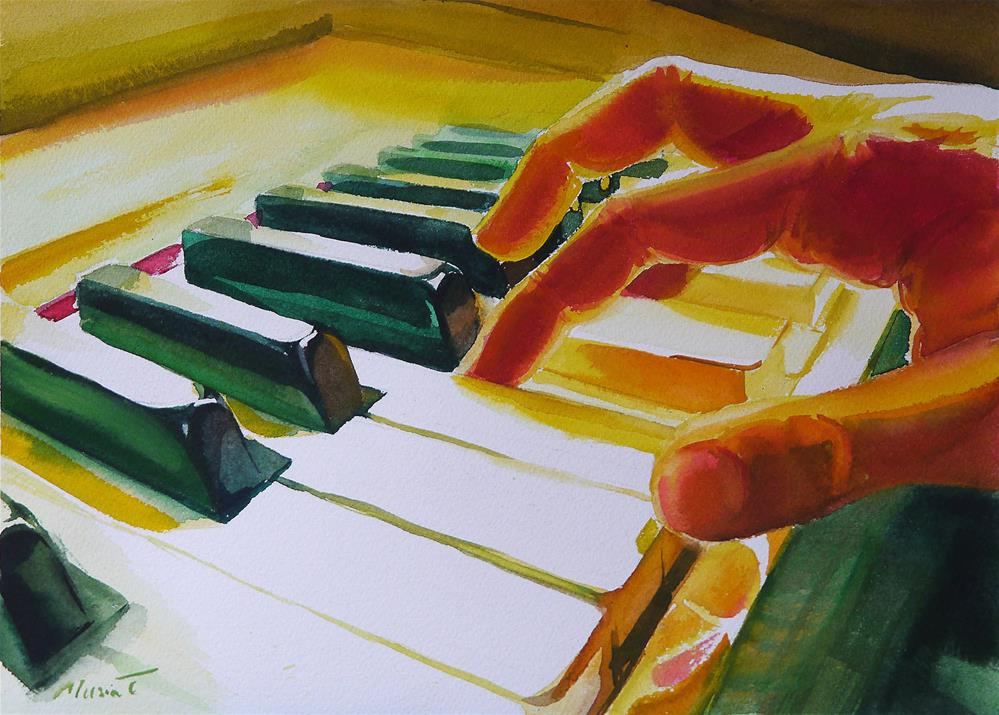 """piano_3"" original fine art by Beata Musial-Tomaszewska"