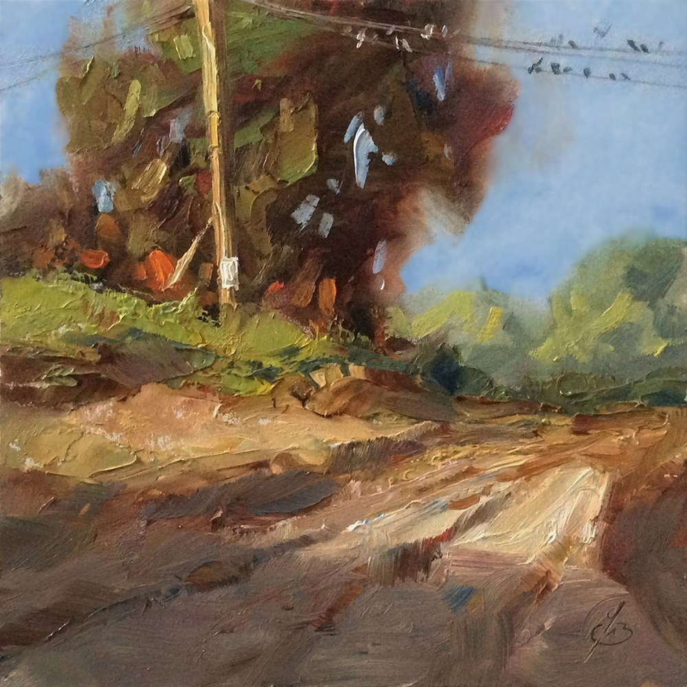 """COUNTRY ROAD"" original fine art by Tom Brown"