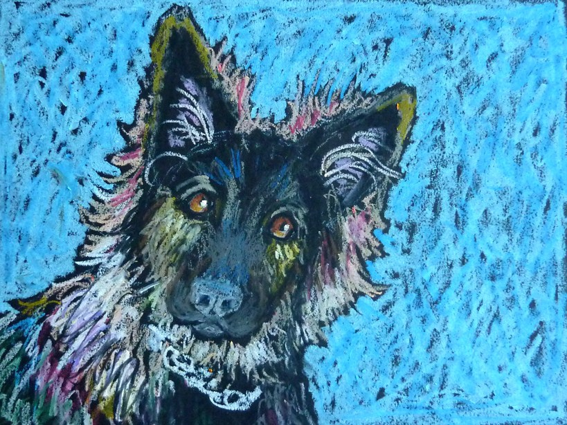 """Caesar"" original fine art by Ande Hall"