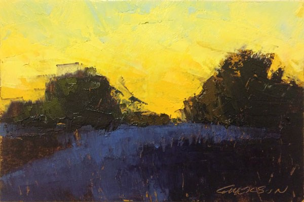 """Fall, Evening Roadway"" original fine art by Mary Gilkerson"