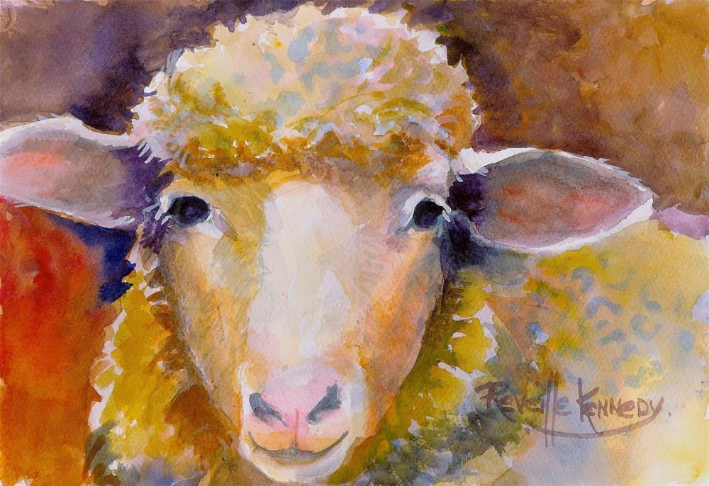 """Wooly Face"" original fine art by Reveille Kennedy"