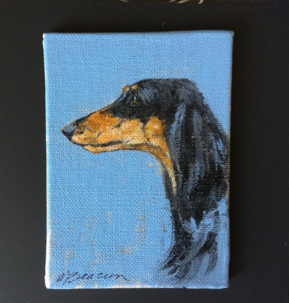 """Saluki"" original fine art by Mary Beacon"