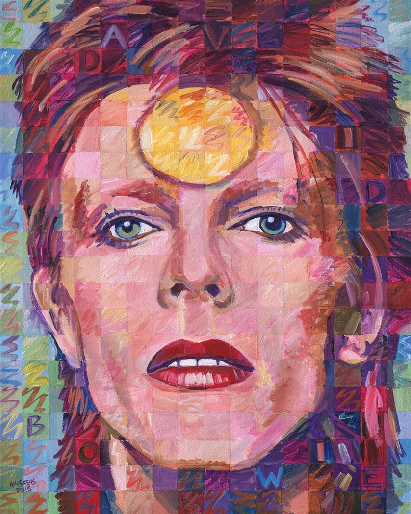 """""""David Bowie (Ziggy Stardust) #1"""" original fine art by Randal Huiskens"""