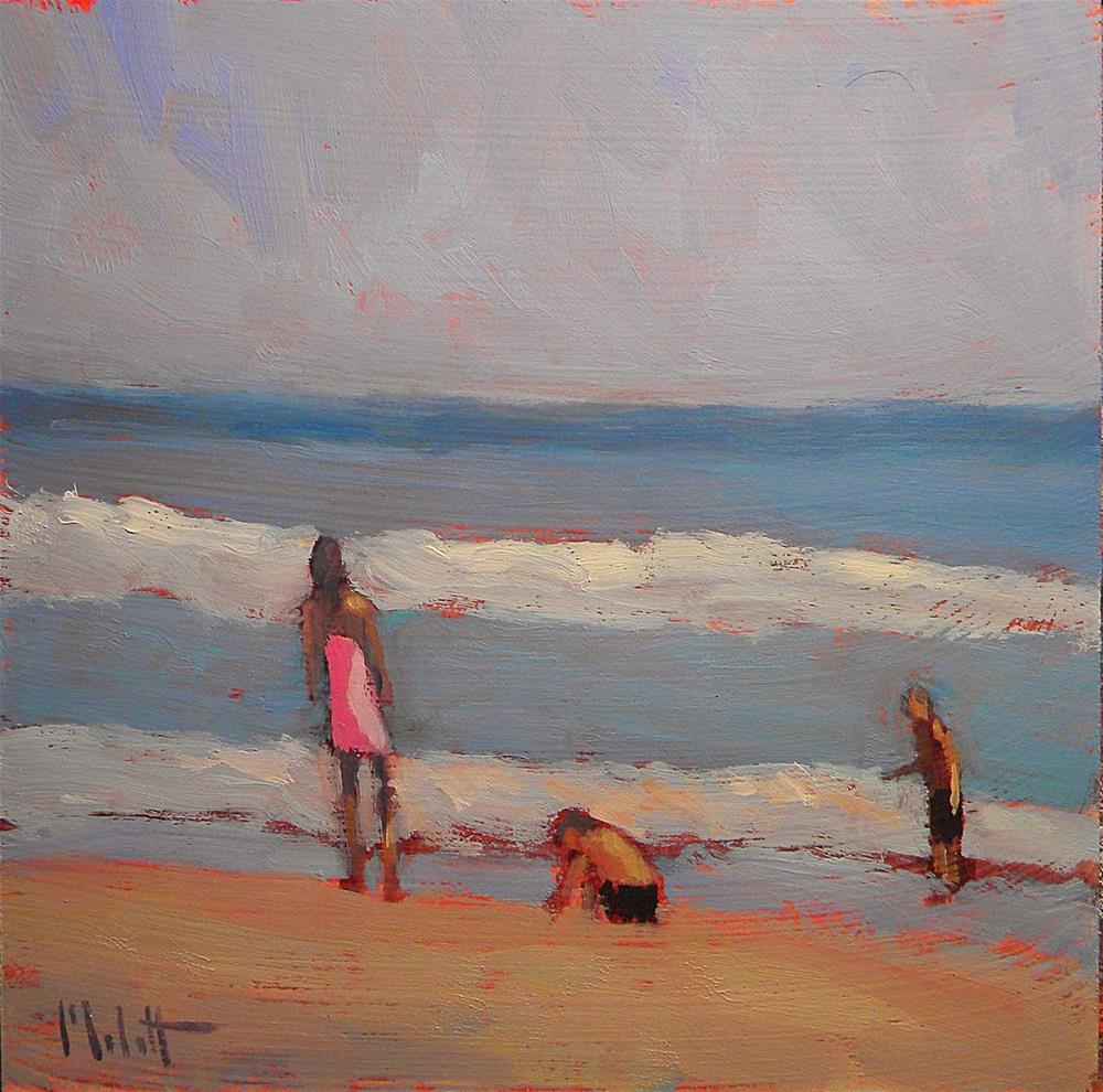"""Family Beach Time Spring Break Series"" original fine art by Heidi Malott"