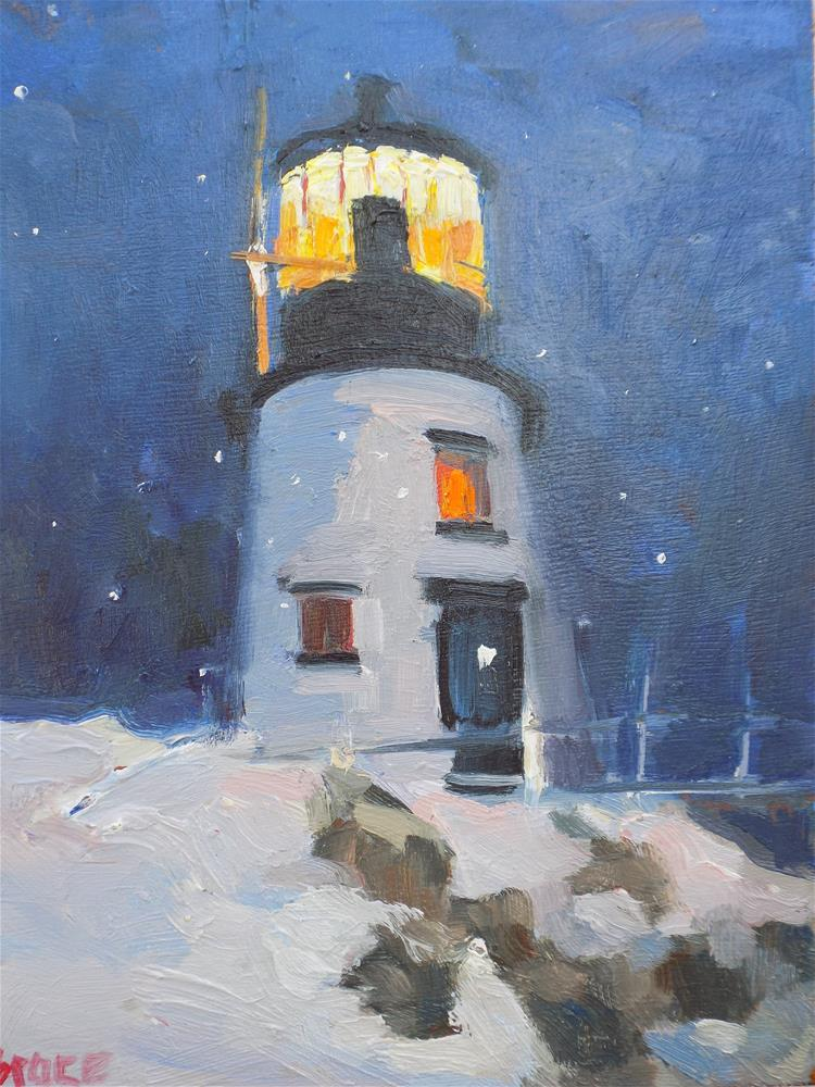 """Night Light"" original fine art by Rita Brace"