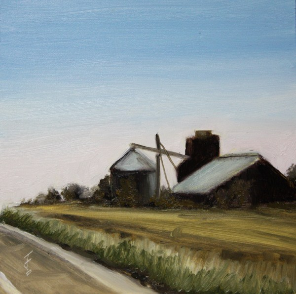 """By the Highway"" original fine art by Jane Frederick"
