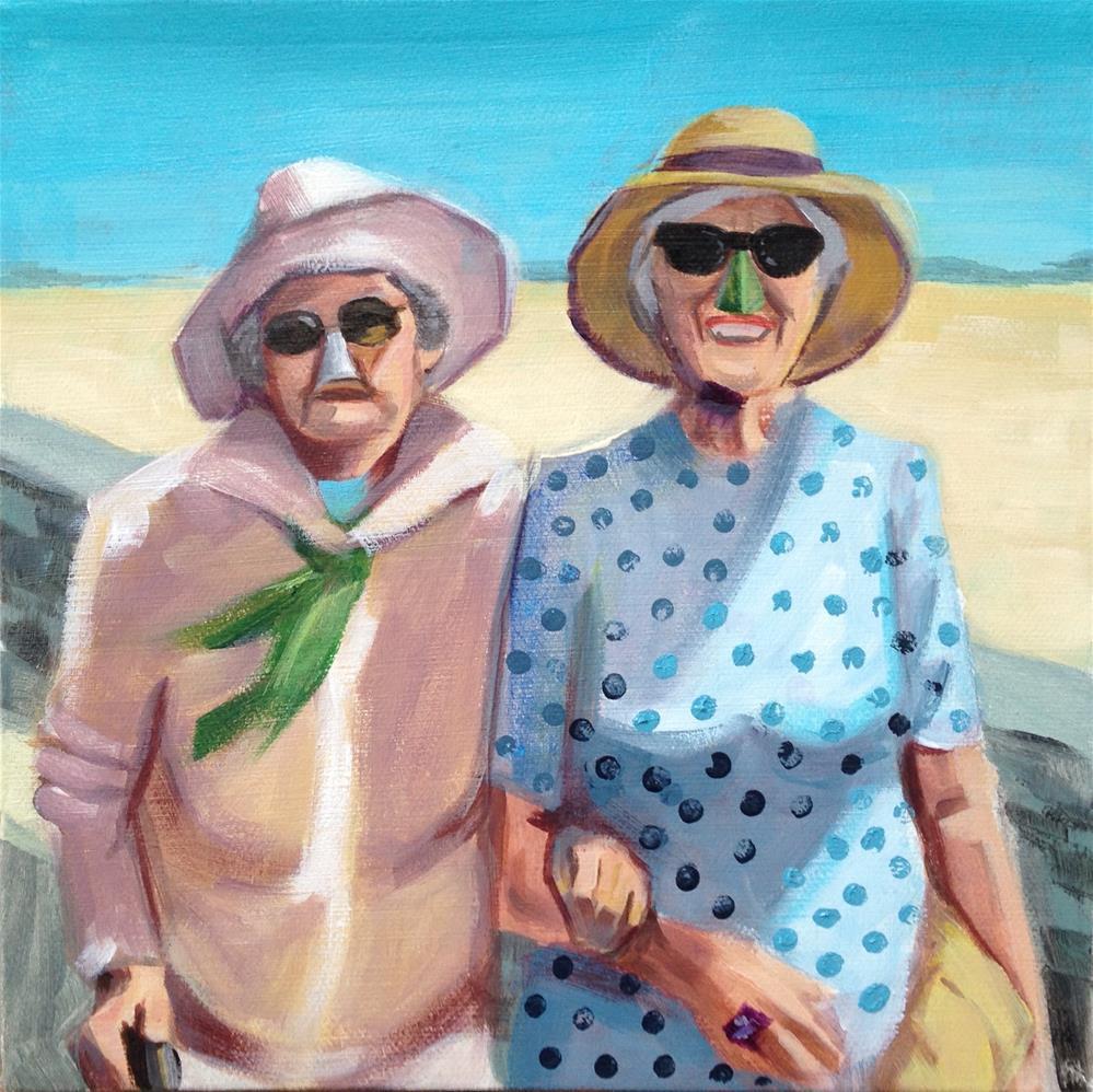"""""""Beach Bubbies"""" original fine art by Bev Thibault"""