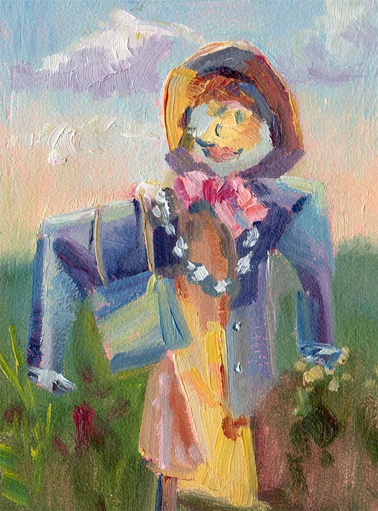 """SCARECROW WHIMSEY"" original fine art by Karen E Lewis"