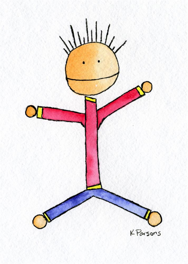 """Spiky Stick Man"" original fine art by Kali Parsons"