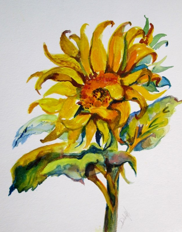 """Sunflower No. 2"" original fine art by Delilah Smith"