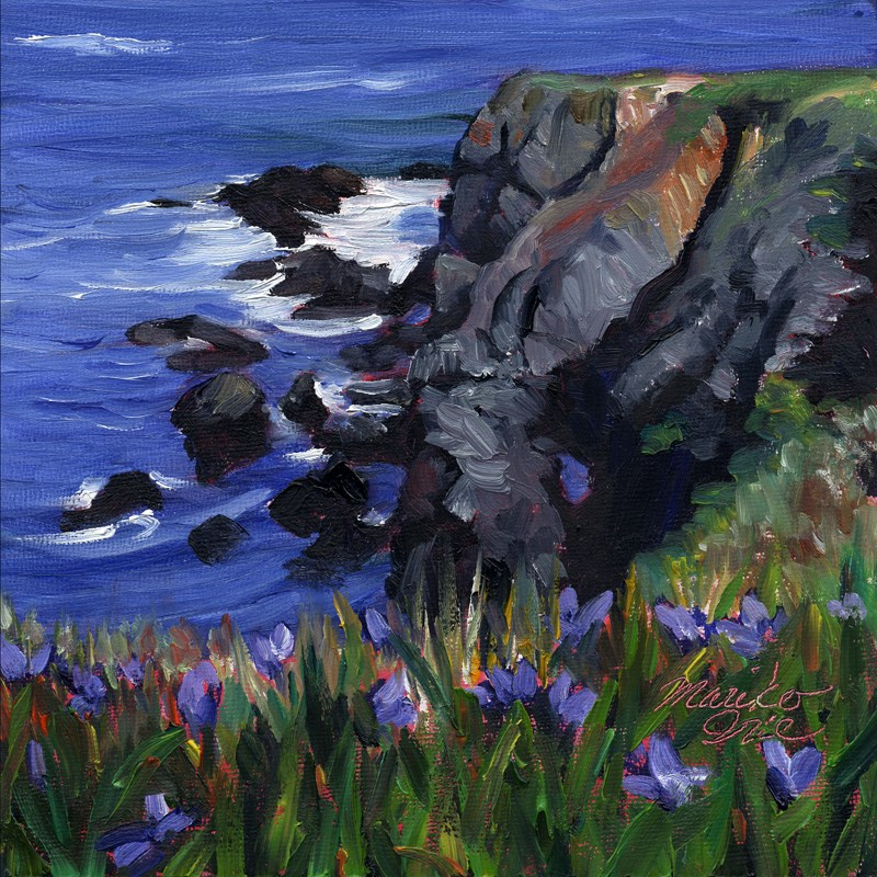 """Iris at Headlands"" original fine art by Mariko Irie"