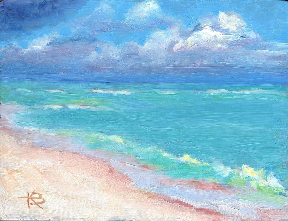 """Dominican Blue"" original fine art by Kathy Bodamer"