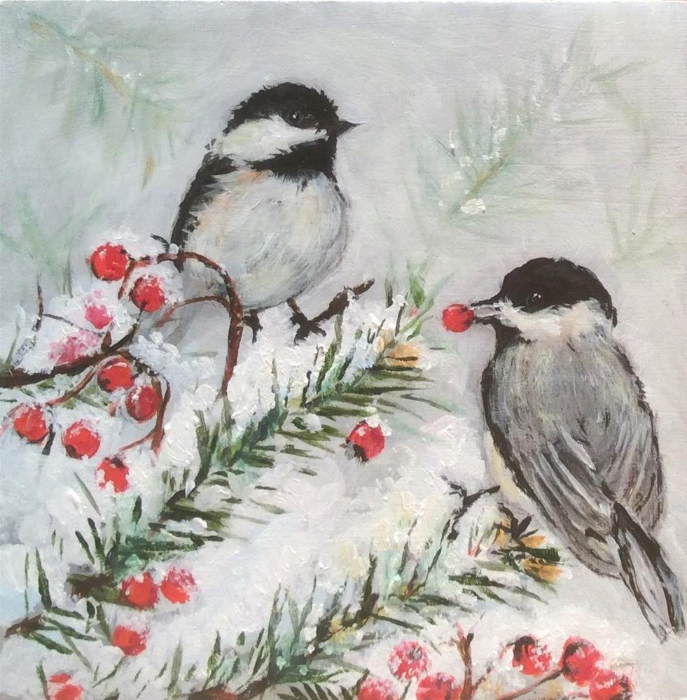 """""""Winter Wonder"""" original fine art by wendy black"""