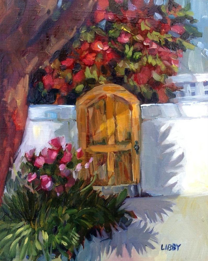 """California Door"" original fine art by Libby Anderson"