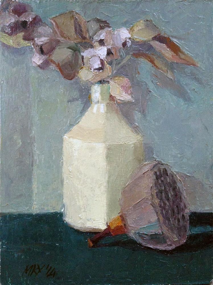 """Gumnuts & Lotus Pod"" original fine art by Myriam Kin-Yee"