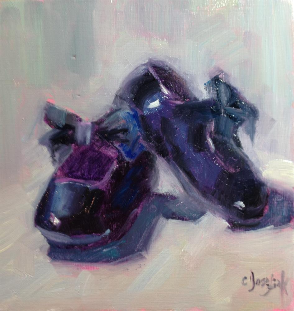 """New Shoes"" original fine art by Carol Josefiak"