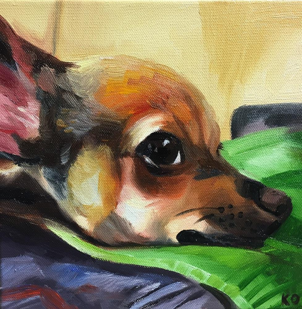 """Nick's Dog"" original fine art by Katy O'Connor"