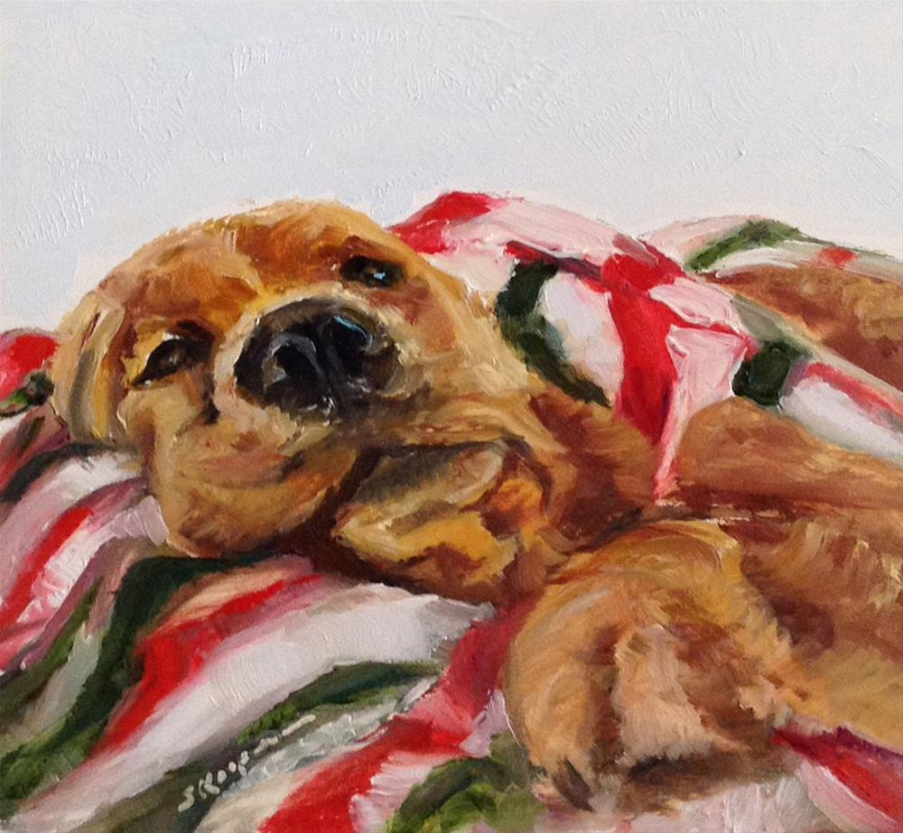"""Christmas Snooze"" original fine art by Shelley Koopmann"