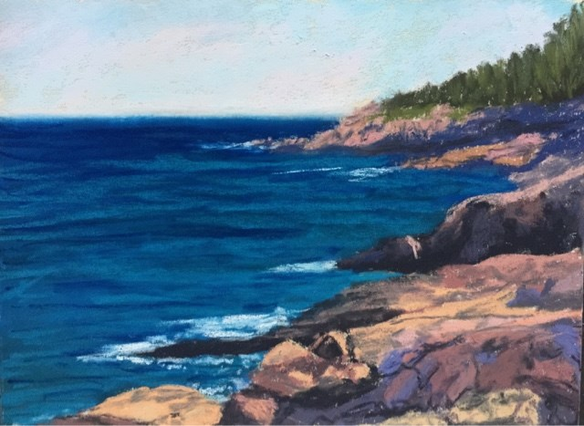 """THE PINK GRANITE COASTLINE"" original fine art by Marti Walker"