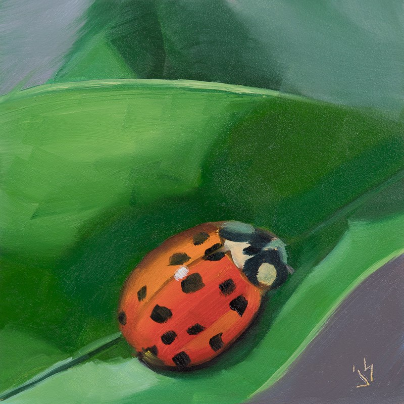 """Lucky Ladybug"" original fine art by Johnna Schelling"
