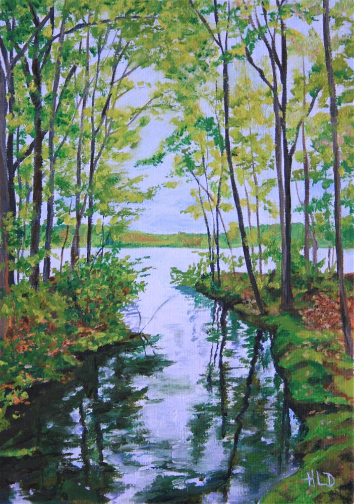 """Spring at Rockland Lake"" original fine art by Heather Douglas"