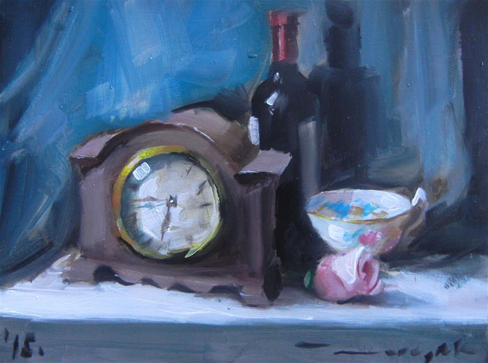 """Old clock"" original fine art by Dragan Culjak"