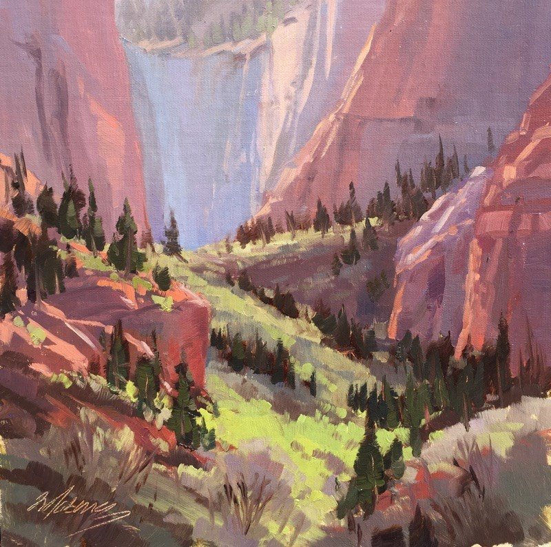 """Spring in the Slot Canyons - Kolob"" original fine art by Mary Jabens"