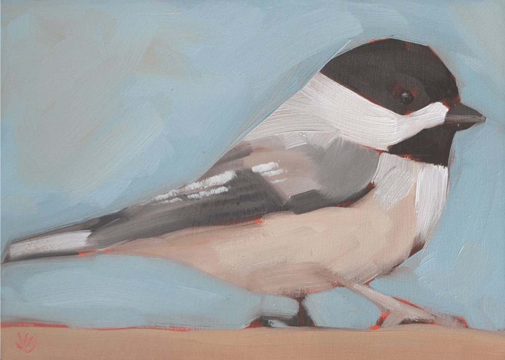 """Chickadee"" original fine art by Jessica Green"
