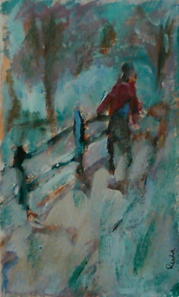 """Path in the Woods"" original fine art by Ann Rudd"