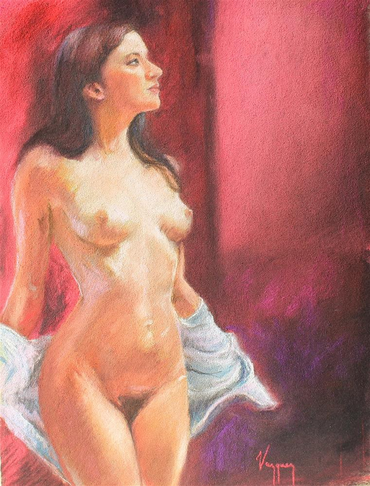 """""""Pastel nude"""" original fine art by Marco Vazquez"""