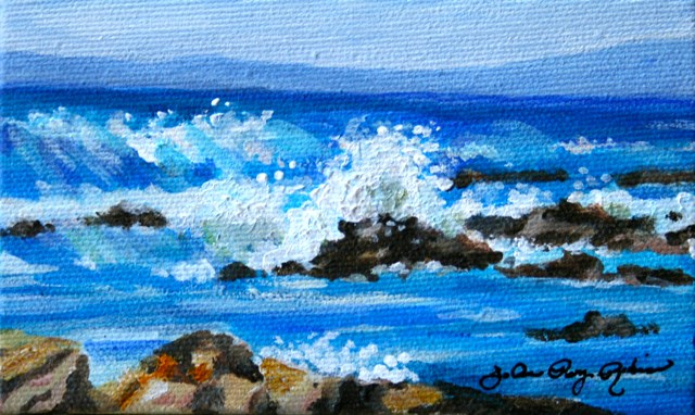 """Splish Splash"" original fine art by JoAnne Perez Robinson"