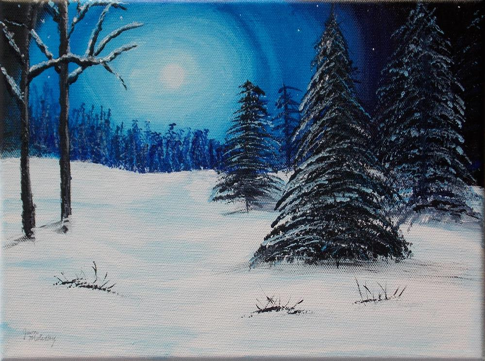 """Hushed Winter Walk"" original fine art by Jan Molesky"