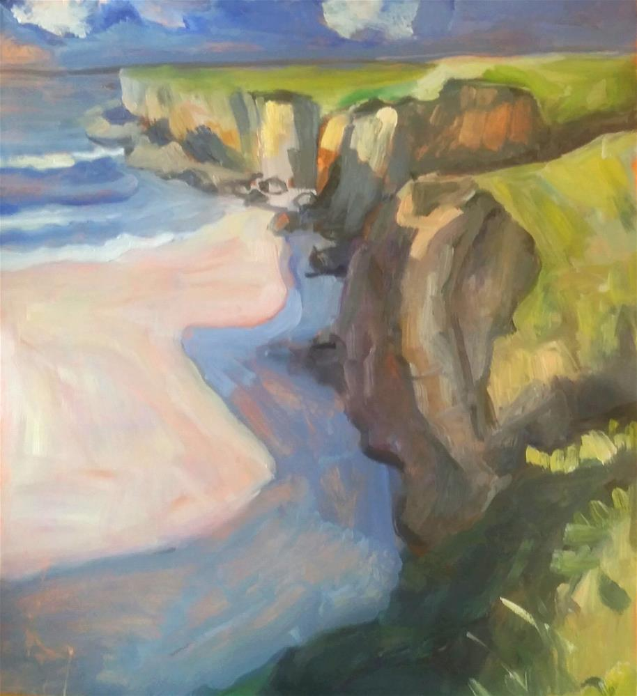 """Cliff by the Shore"" original fine art by Liz Maynes"