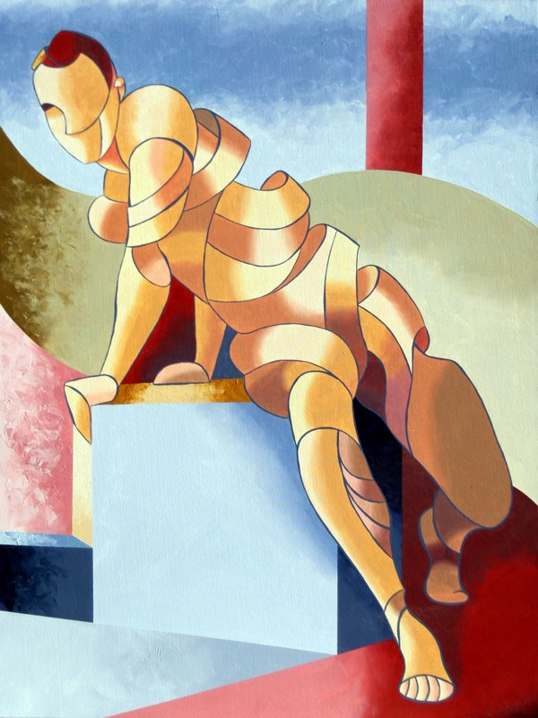 """""""Mark Webster - Jesse 1302 - Abstract Figurative Acrylic Painting"""" original fine art by Mark Webster"""