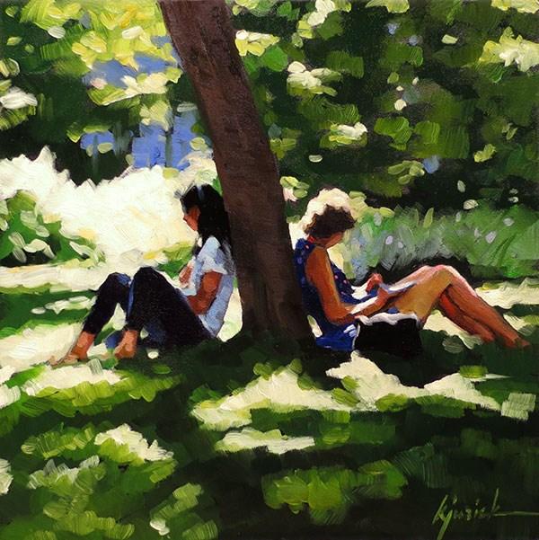 """Spring Break"" original fine art by Karin Jurick"