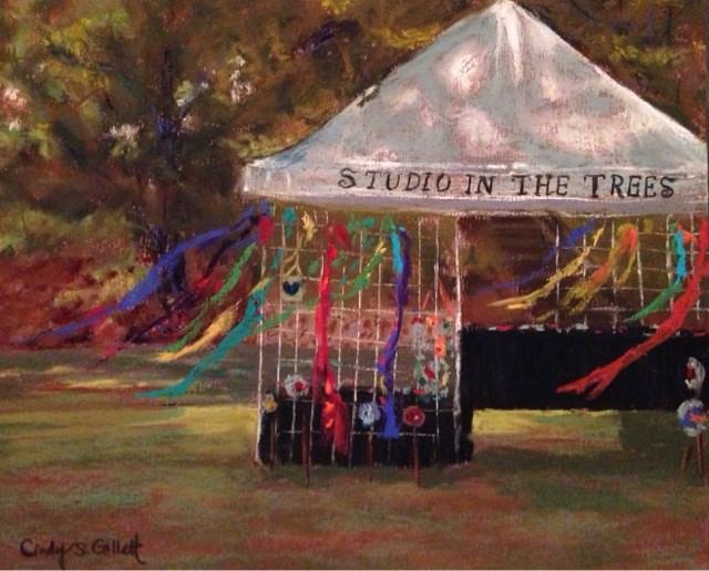 """Studio In The Trees"" original fine art by Cindy Gillett"