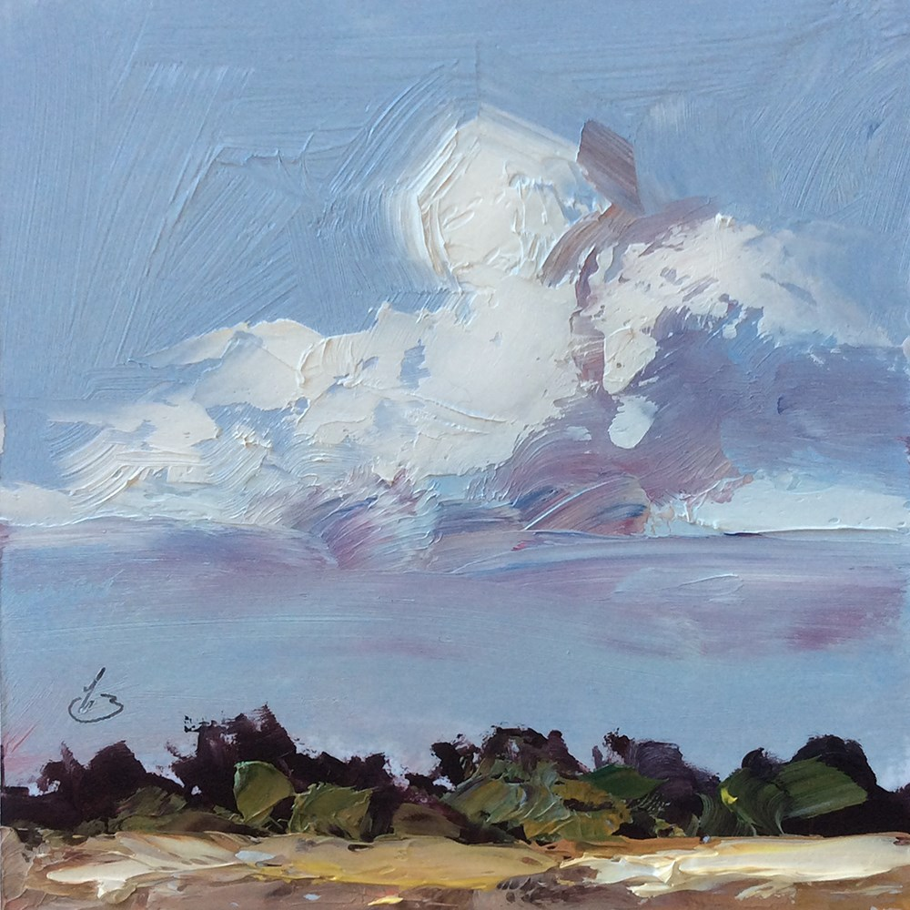 """CLOUDSCAPE"" original fine art by Tom Brown"