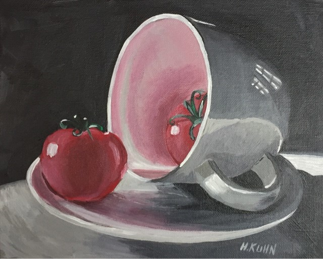 """Teacup Tomatoes"" original fine art by Helen Kuhn"