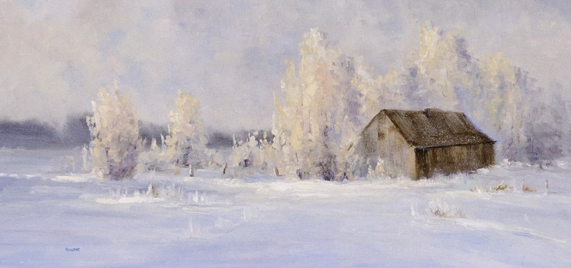 """Solitary Winter"" original fine art by Bonnie Bowne"