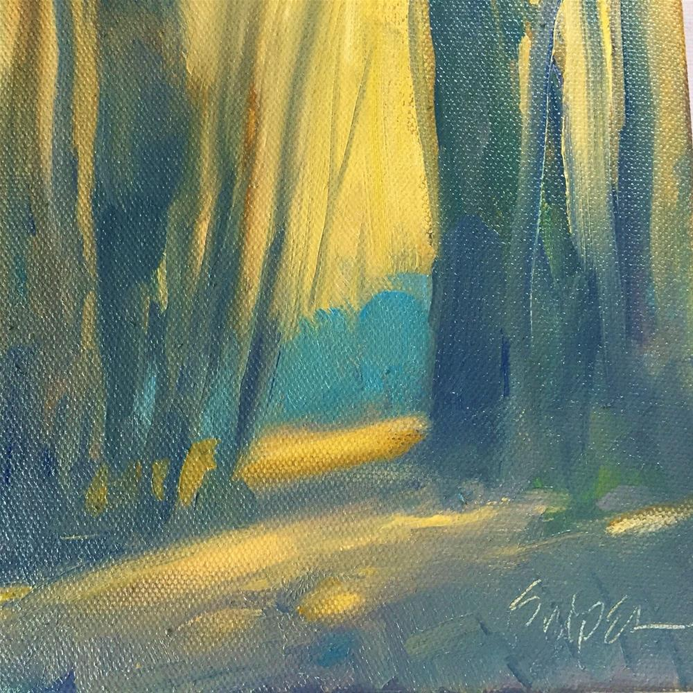 """""""Into the Forrest"""" original fine art by Connie Snipes"""