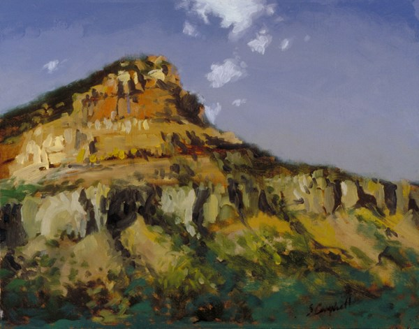"""Cliffs in Kenilworth"" original fine art by Susan N Jarvis"